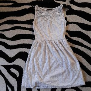 Suzy Shier white lace overlay dress